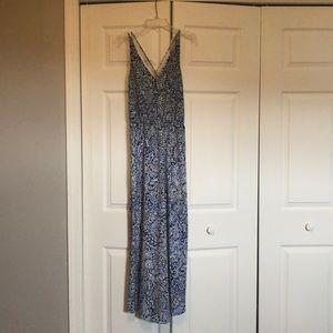 Loft Paisley Blue Maxi Dress